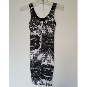 H&M Pattern Body Con Tank Dress size 2 NWT